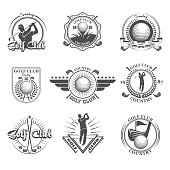 Golf emblems set