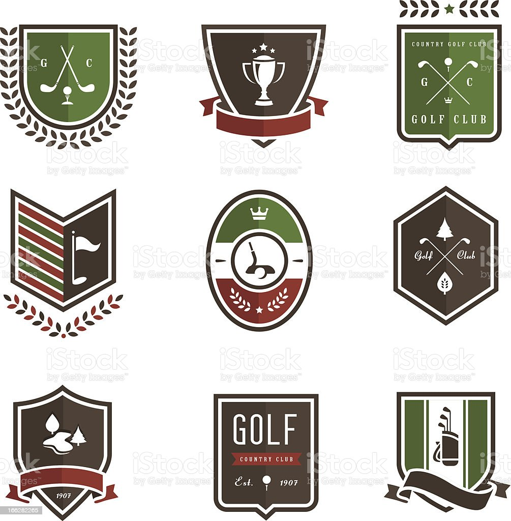 Golf Emblems vector art illustration