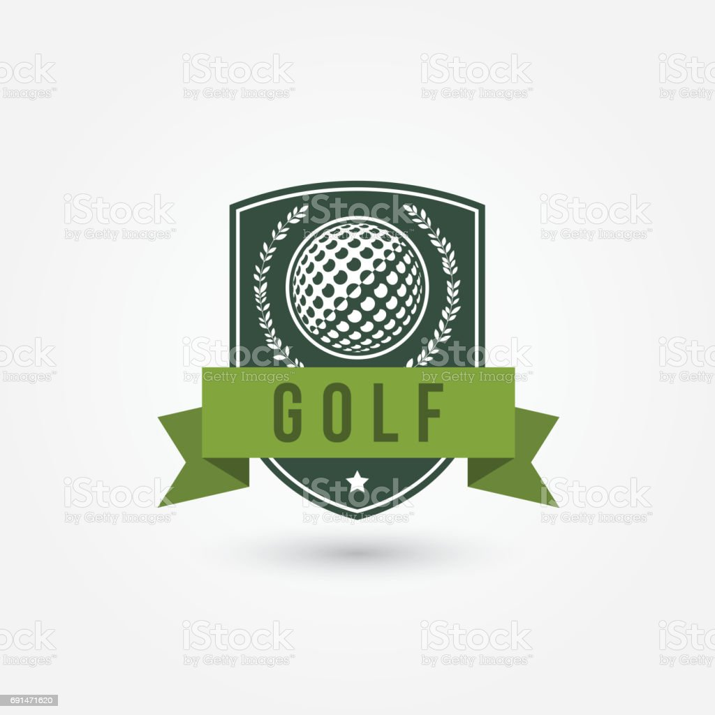 Golf emlblem or icon Vector illustration on white background Badge stock vector