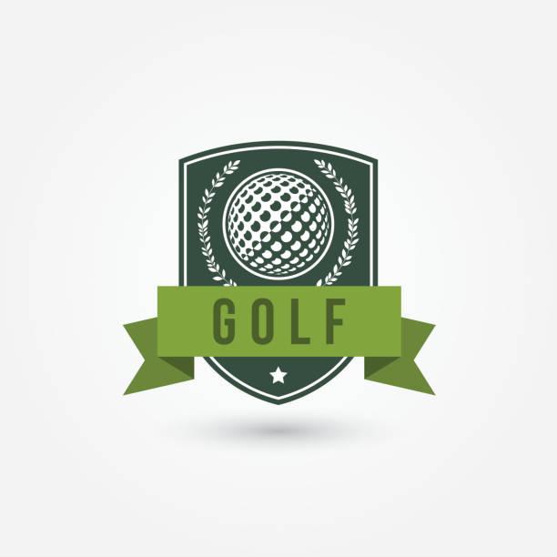 Golf emlblem or icon Vector illustration on white background golf logo stock illustrations