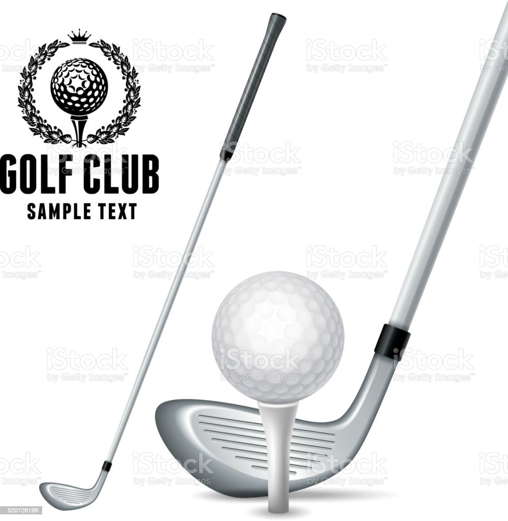 Golf Equipments vector art illustration