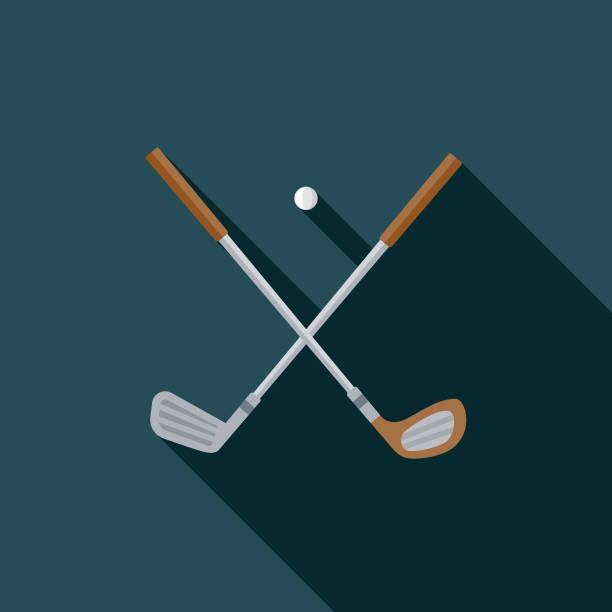 ilustrações de stock, clip art, desenhos animados e ícones de golf flat design united kingdom icon - golf