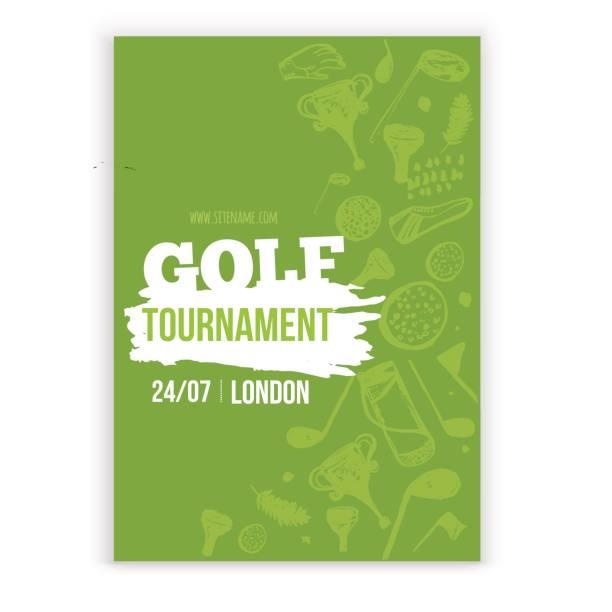 ilustrações, clipart, desenhos animados e ícones de ilustração em vetor passageiro golf. convite para torneio projeto com mão desenhada elementos grunge. fácil de editar para a sua promoção - golfe