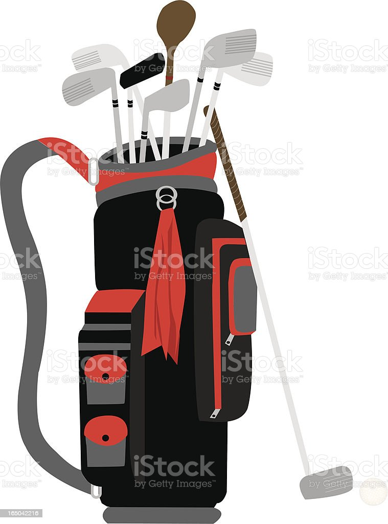 royalty free golf bag clip art vector images illustrations istock rh istockphoto com golf bag clip art images