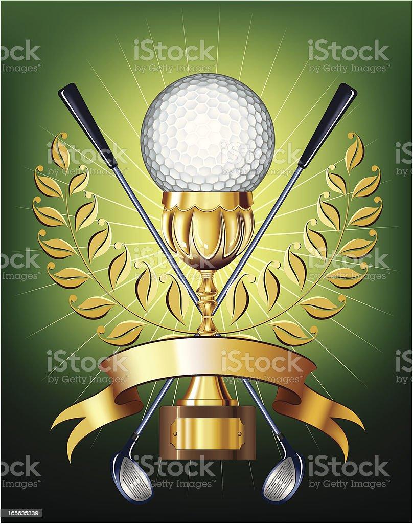 Golf golden cup royalty-free stock vector art