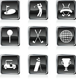 golf/golfing icons/buttons