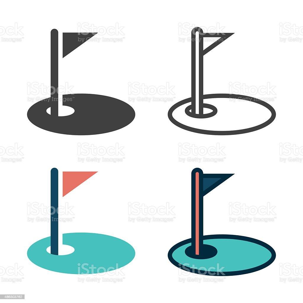 Golf Green Icon vector art illustration