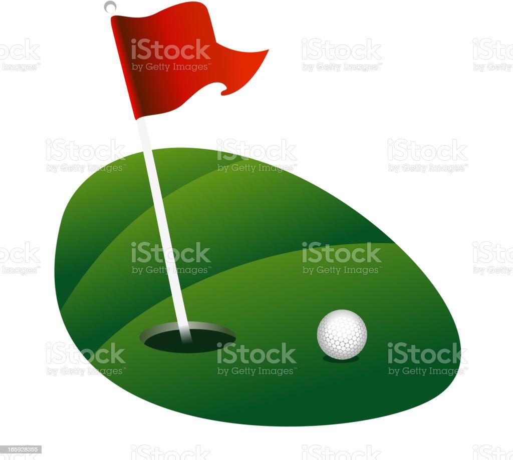 Golf Green vector art illustration