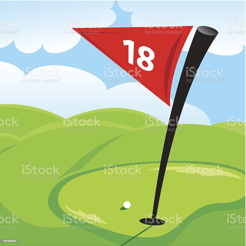 Golf Hole Flag Clip Art, Vector Images & Illustrations ... Golf Hole Clip Art