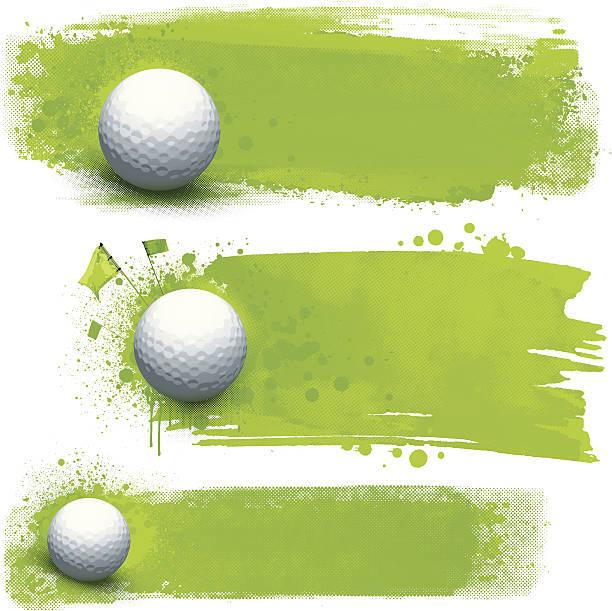 ilustrações, clipart, desenhos animados e ícones de banners de grunge de golfe - golfe
