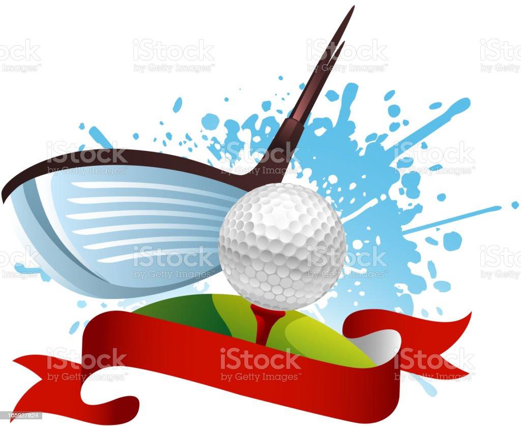 Golf Hit royalty-free stock vector art