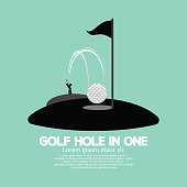 Golf Hole in One Sport Symbol