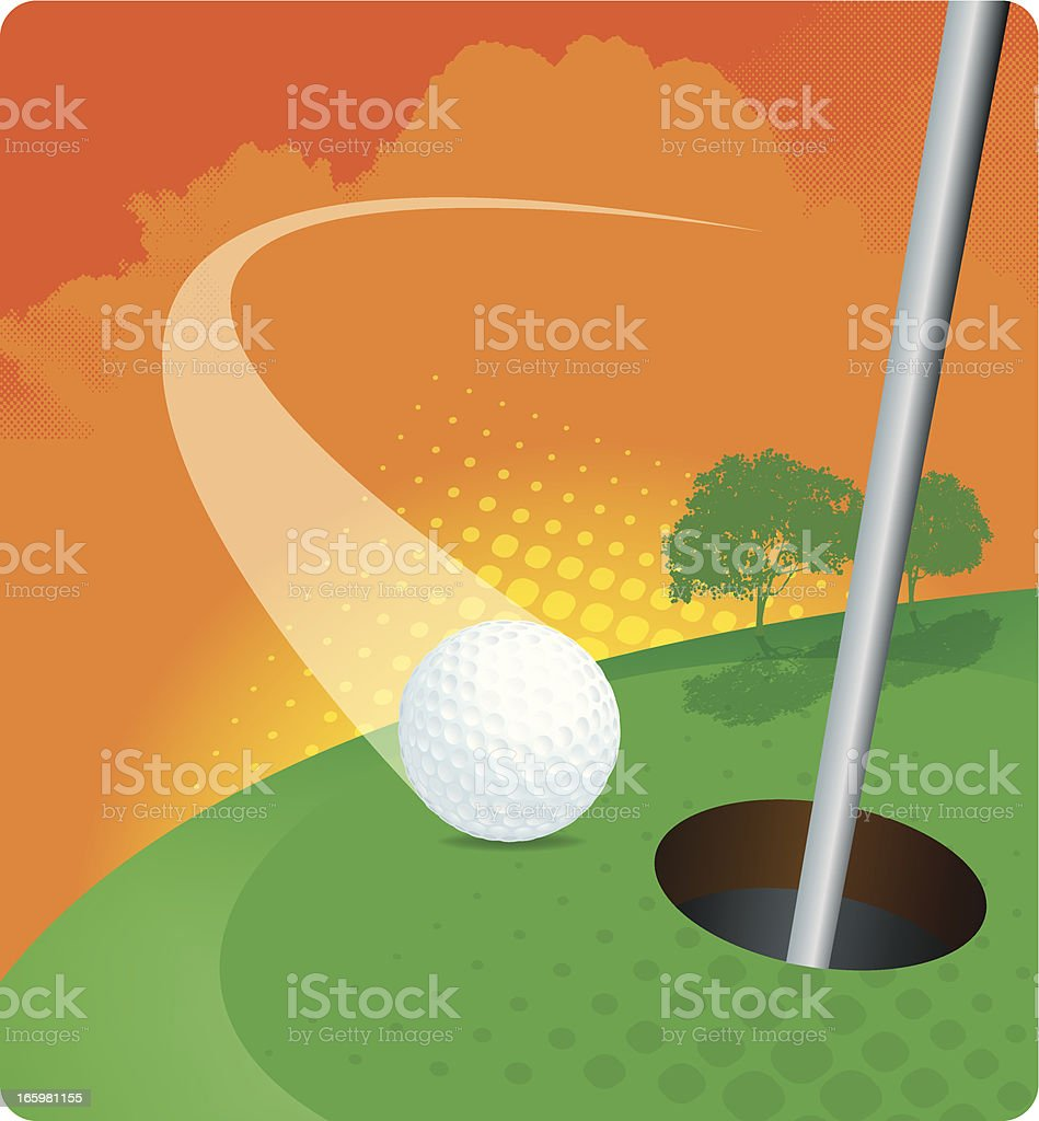 Illustrator 10 with transparencies. Graphic illustration of a golf...