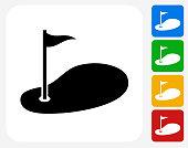 Golf Icon Flat Graphic Design