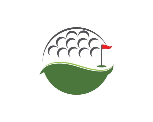 Golf icon logo vector template Golf icon logo vector template golf logo stock illustrations