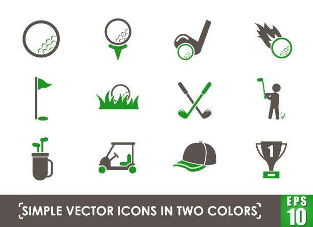 ゴルフアイコンセット - ゴルフ点のイラスト素材/クリップアート素材/マンガ素材/アイコン素材