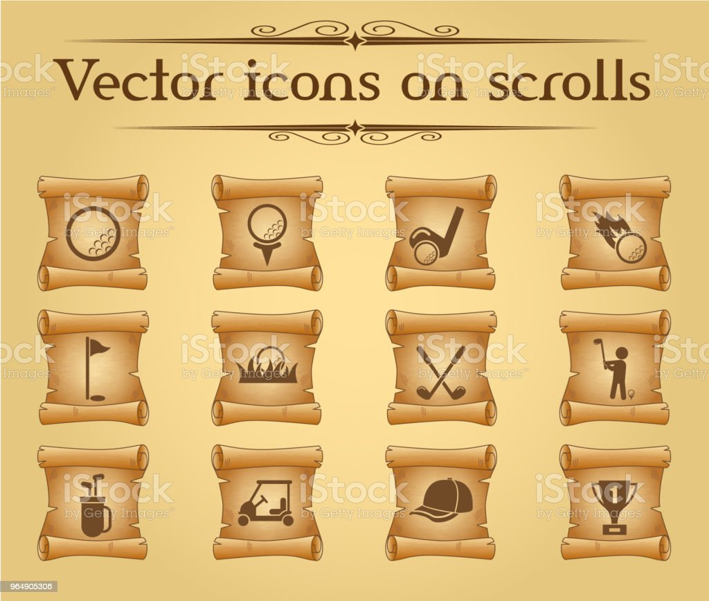 golf icon set royalty-free golf icon set stock illustration - download image now