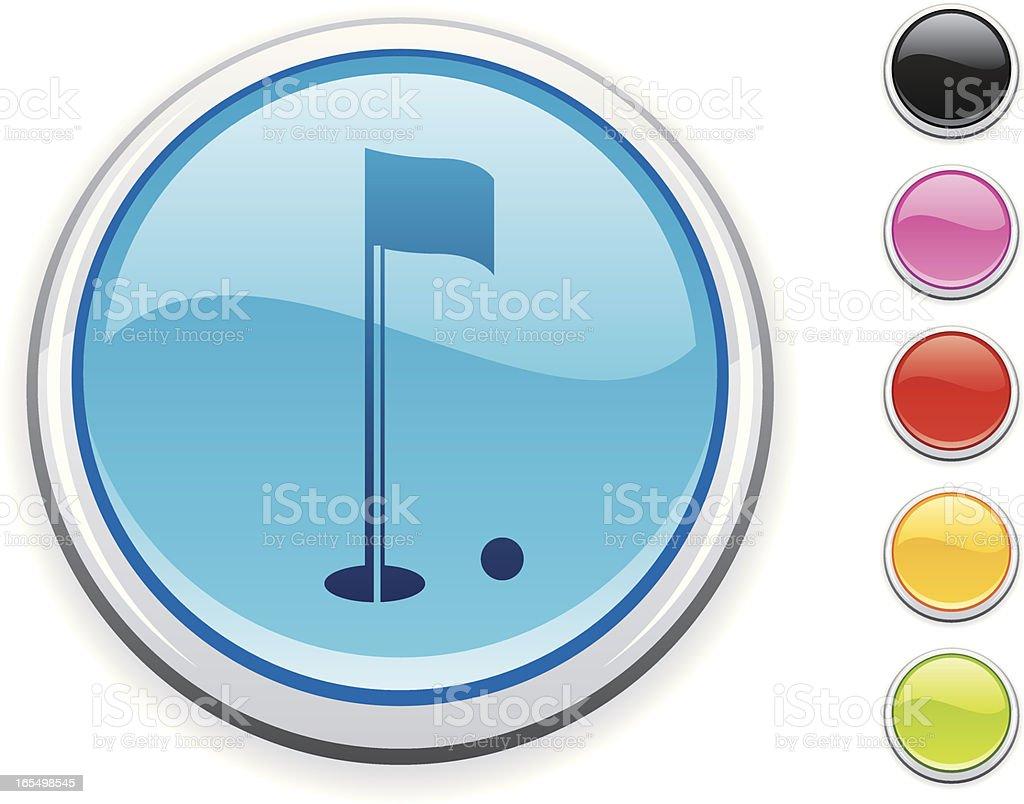 Golf icon royalty-free stock vector art