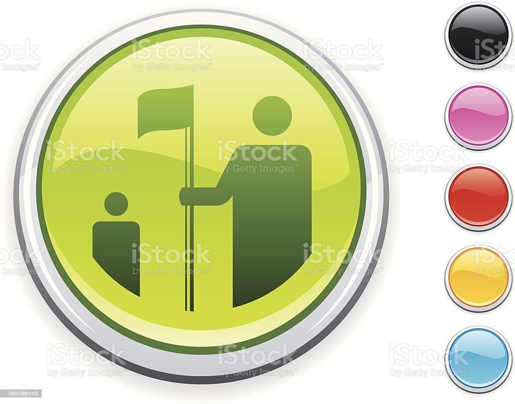 Golf icon royalty-free stock vector art