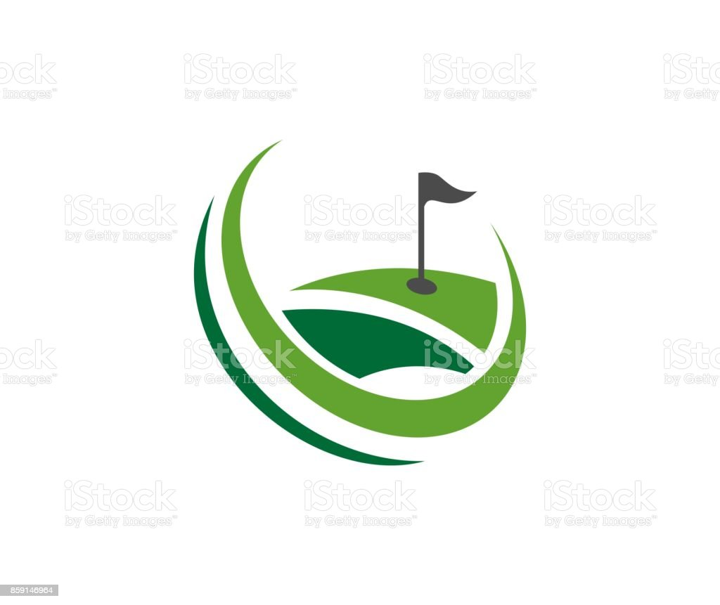 Icono de Golf - ilustración de arte vectorial