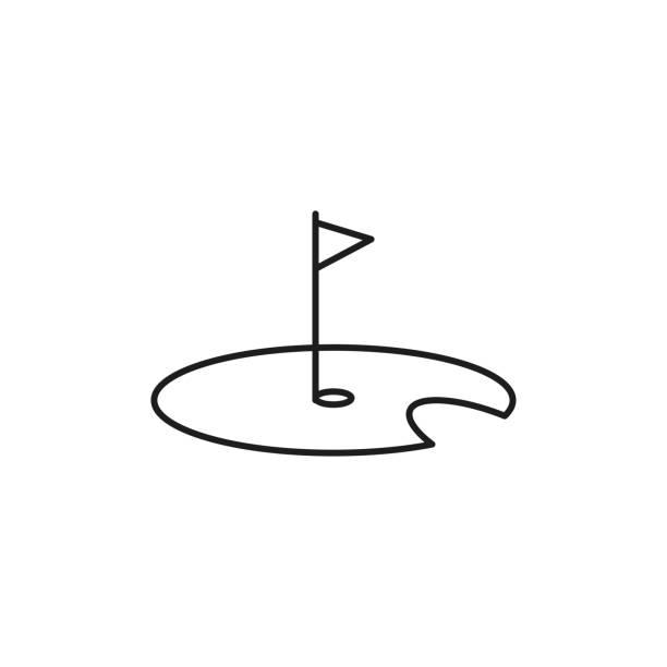 golf icon vector art illustration