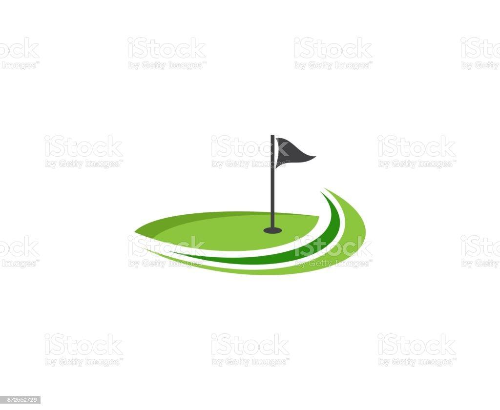 Icône de Golf - Illustration vectorielle