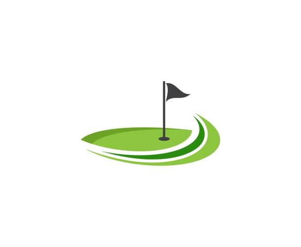 ilustrações, clipart, desenhos animados e ícones de ícone de golfe - golfe