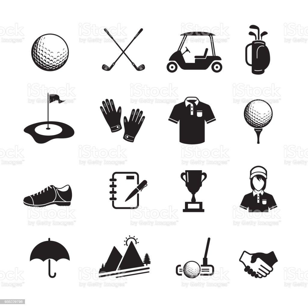 ゴルフのアイコン - アイコンのロイヤリティフリーベクトルアート