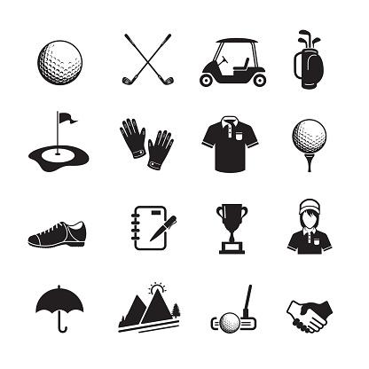 ゴルフのアイコン - アイコンのベクターアート素材や画像を多数ご用意
