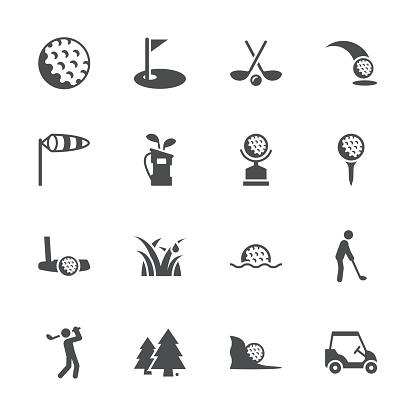 Golf Icons - Gray Series