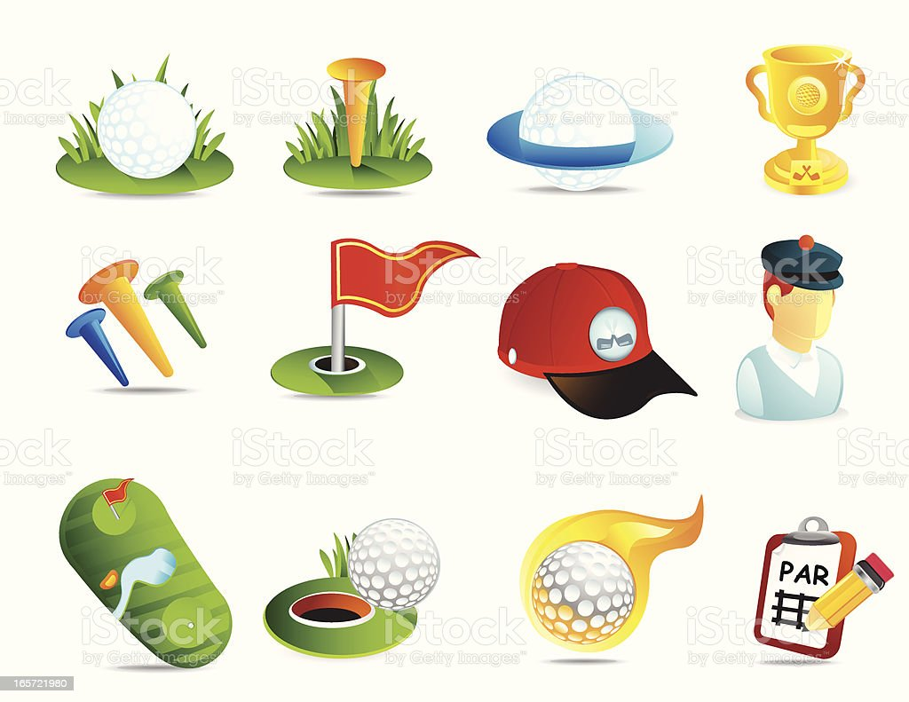 Golf Icons royalty-free golf icons stock vector art & more images of cap