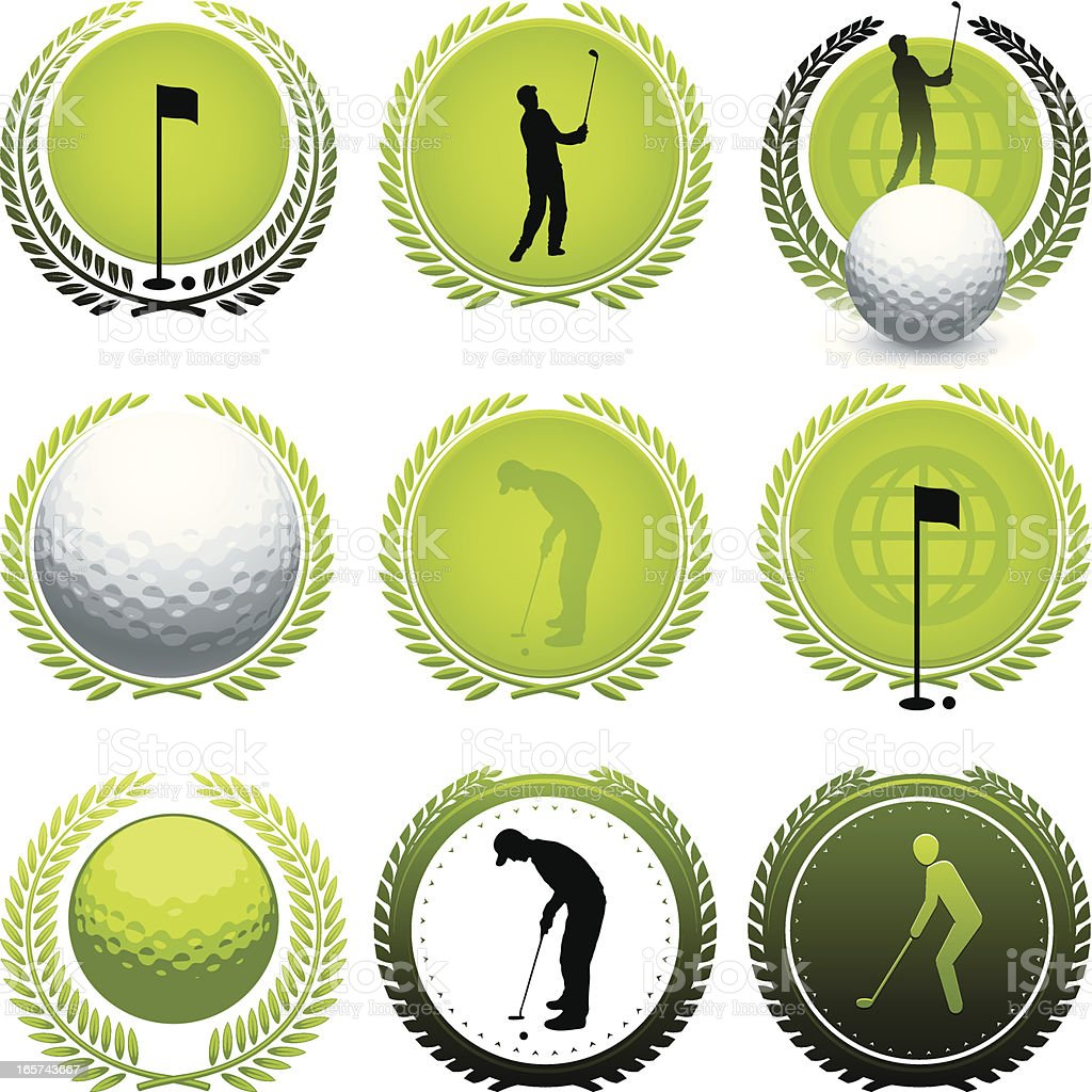 Golf icons royalty-free golf icons stock vector art & more images of achievement