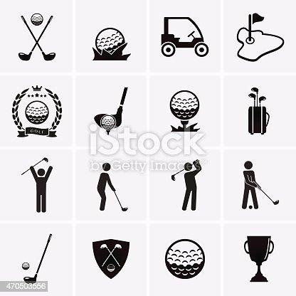 Golf Icons. Vector set