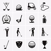 Golf Icons. Vector set