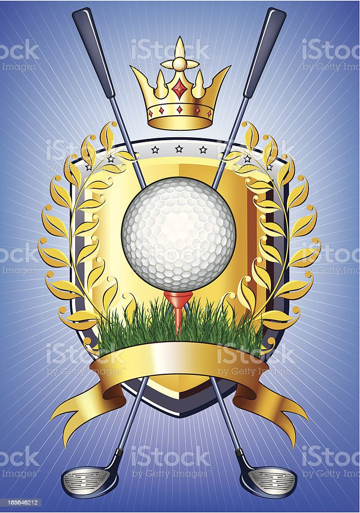 Golf insignia royalty-free stock vector art