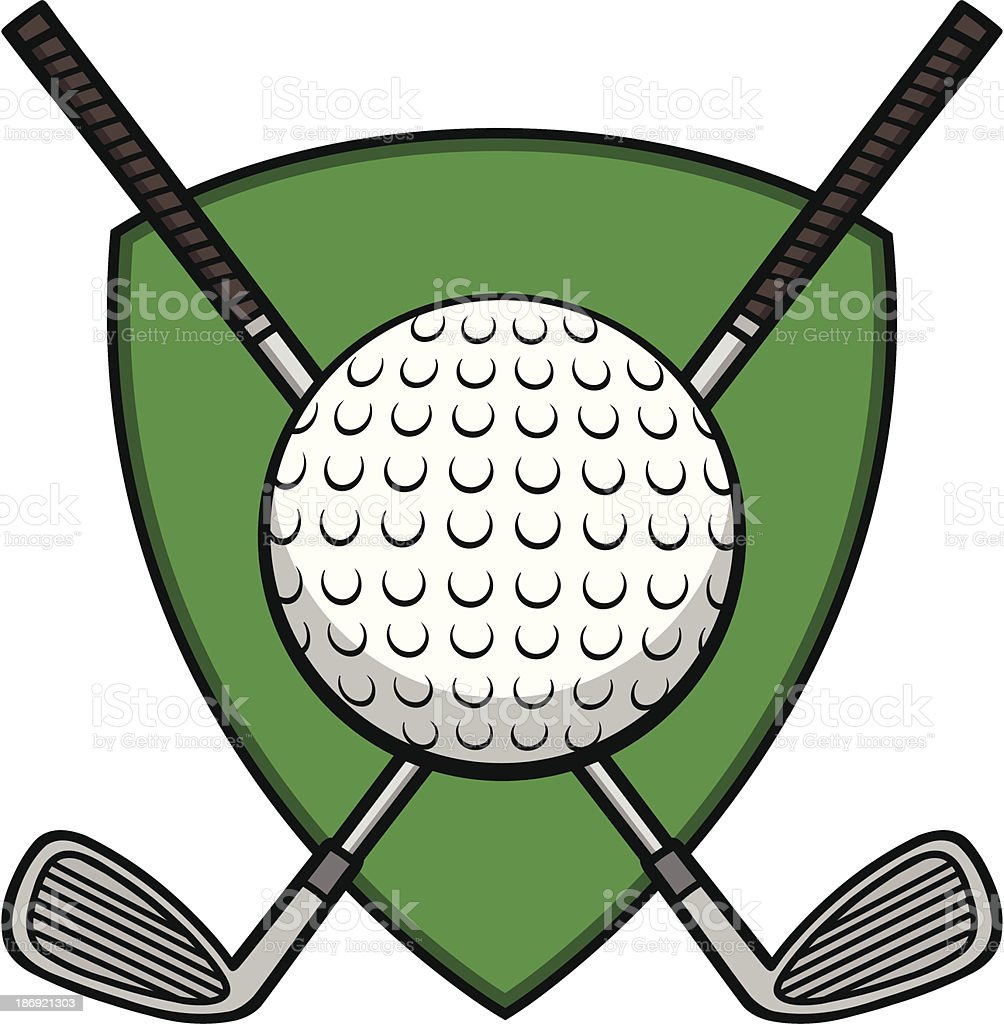 Golf Insignia vector art illustration