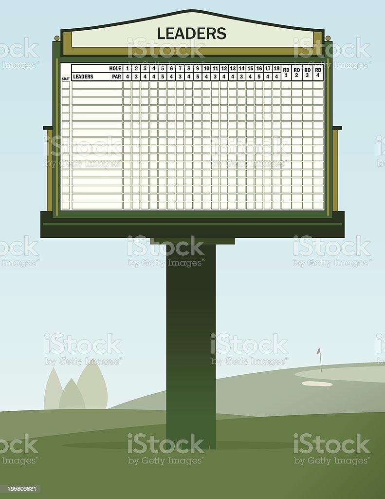 Golf Leader Board vector art illustration