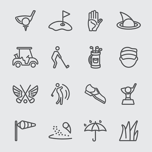 Golf line icon Golf line icon golf icon stock illustrations