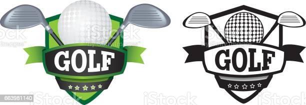 Golf Logo Or Badge Shield Or Branding Stock Illustration - Download Image Now