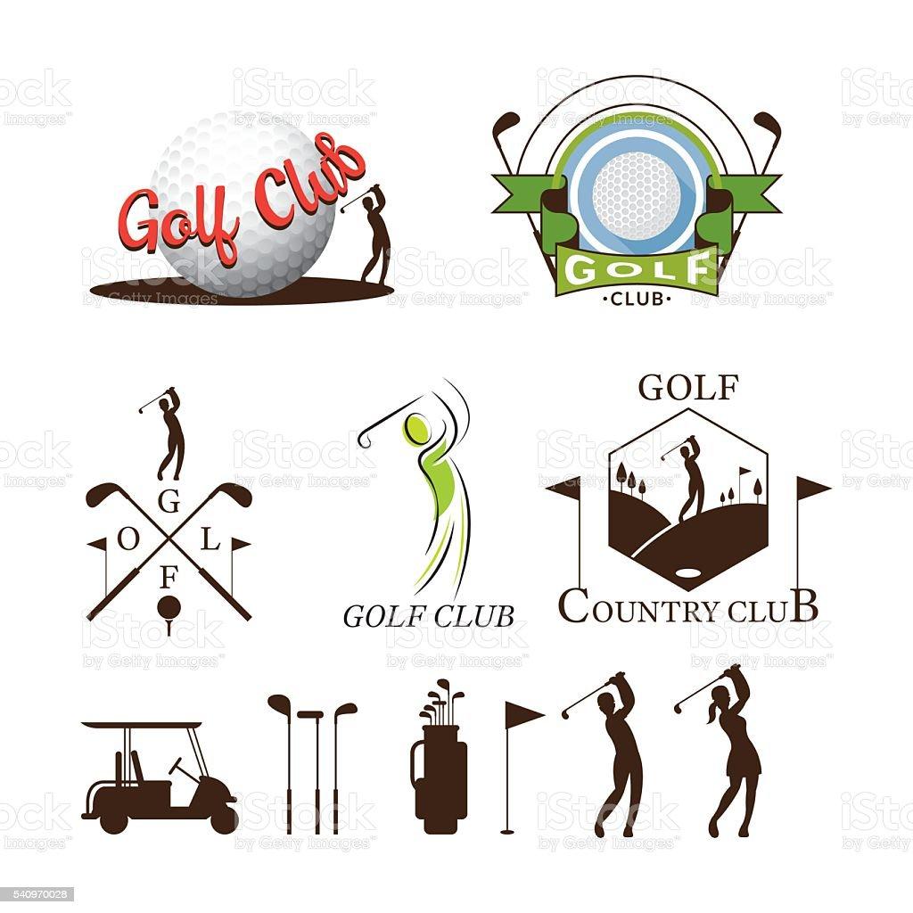 Ilustración de Objetos Y Elementos Gráficos De Golf y más banco de ...