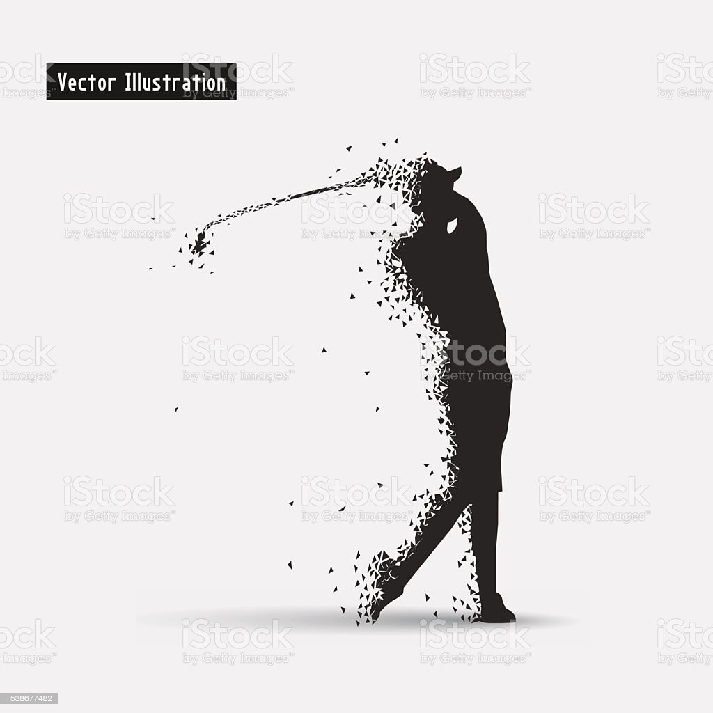 Golf player vector art illustration