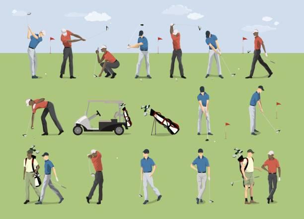 ゴルフ プレーヤーを設定します。 - ゴルフ点のイラスト素材/クリップアート素材/マンガ素材/アイコン素材