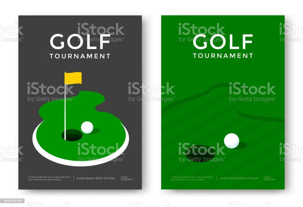 Diseño del cartel del golf - ilustración de arte vectorial