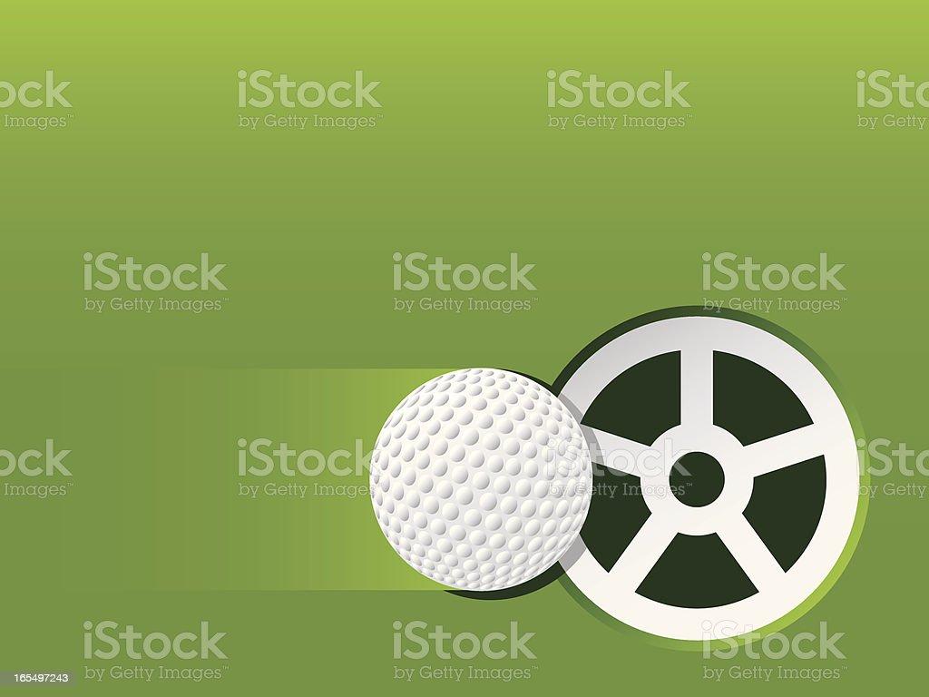 Golf Putt vector art illustration
