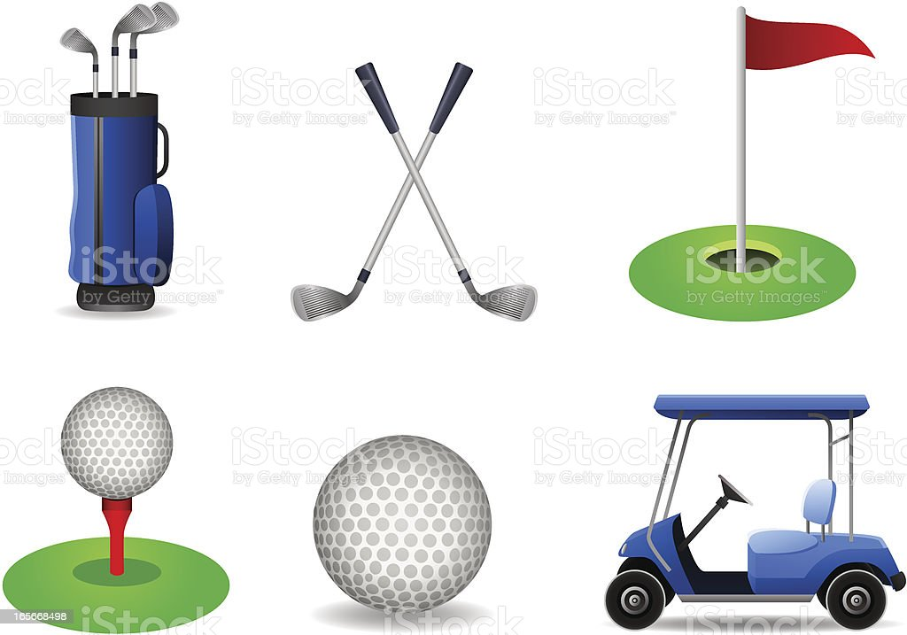 Golf Set vector art illustration