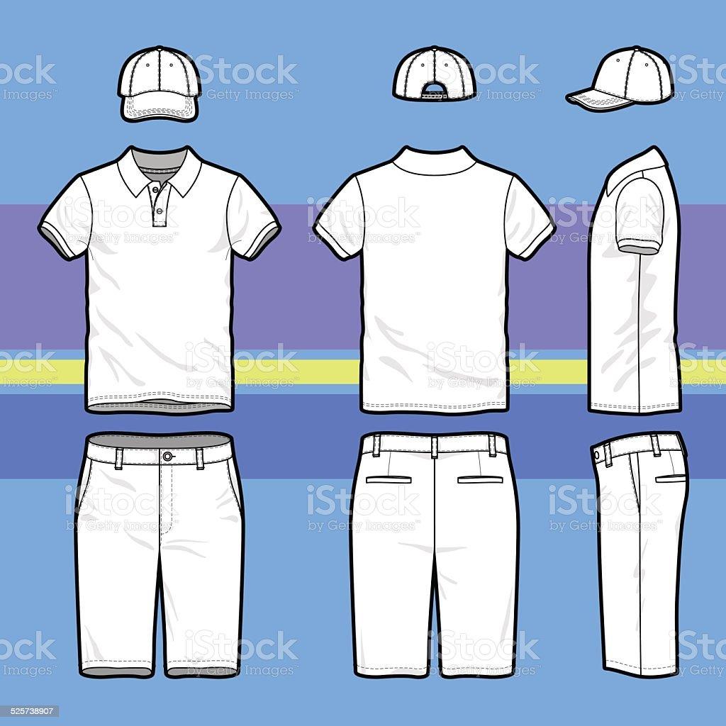 Golf set vector art illustration