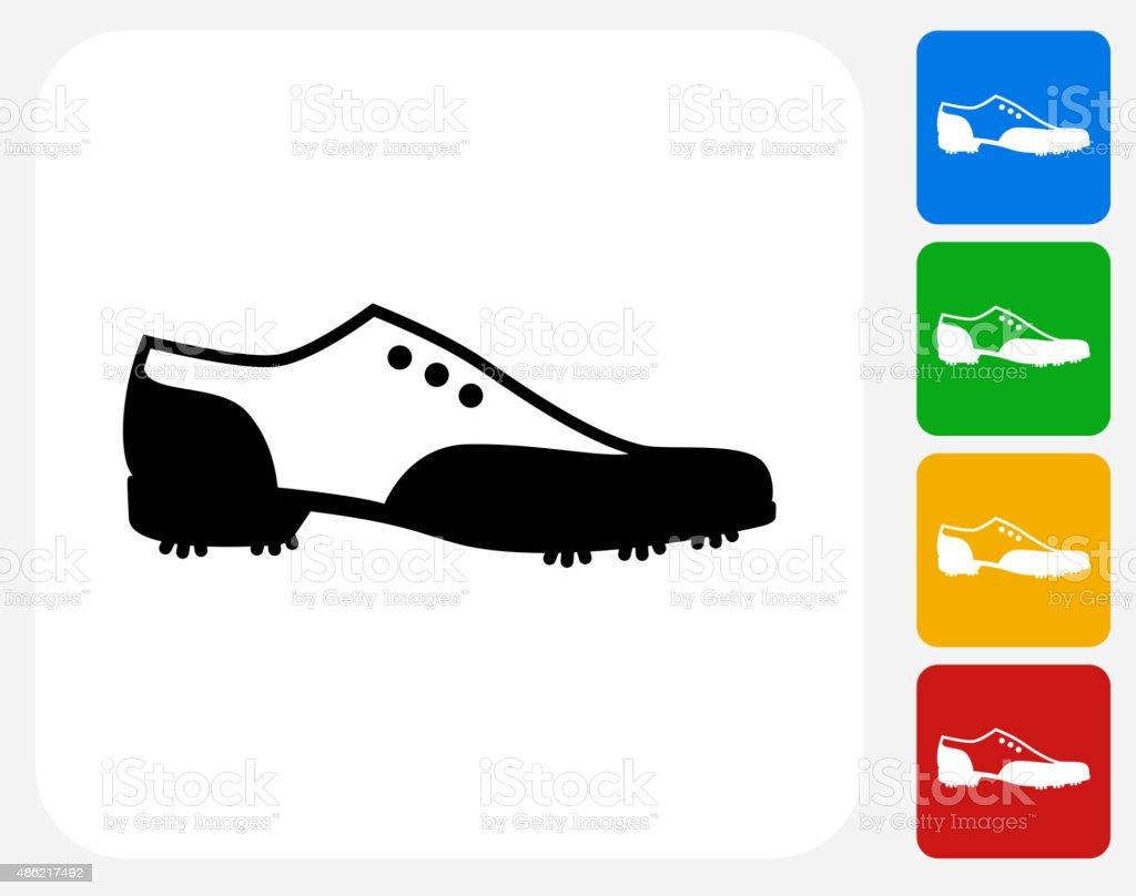 Golf Shoe Icon Flat Graphic Design vector art illustration