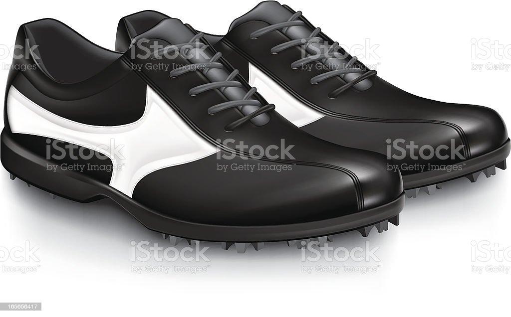 Golf Shoe vector art illustration