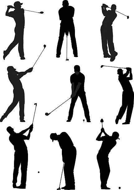ゴルフのシルエットセット - ゴルフ点のイラスト素材/クリップアート素材/マンガ素材/アイコン素材