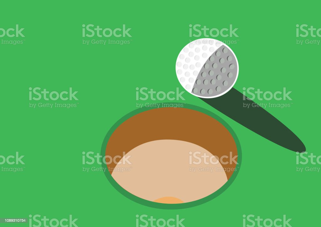 Golf sport icons designin circle, vector illustration